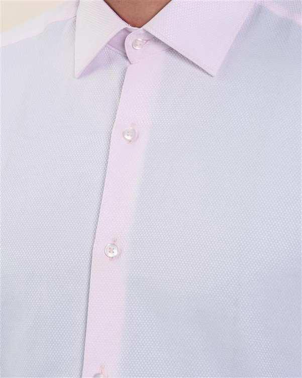 پیراهن مردانه نخی صورتی روشن باگوزا