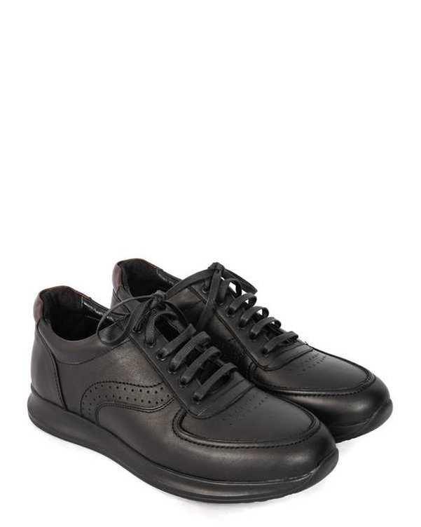 کفش چرم مردانه کژوال طبی مشکی اکو