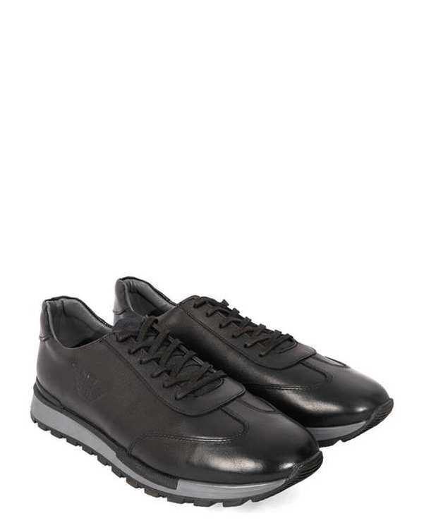 کفش چرم مردانه کژوال مشکی بوفالو