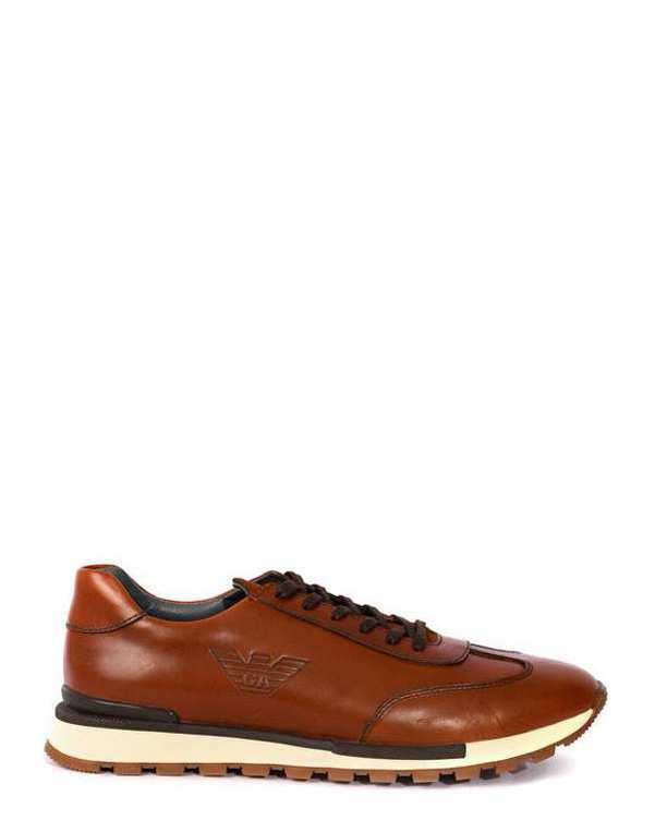 کفش چرم مردانه کژوال قهوه ای بوفالو