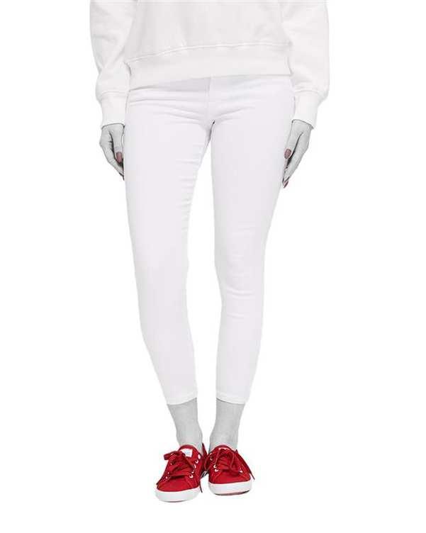 شلوار زنانه جین چسبان سفید دایورس