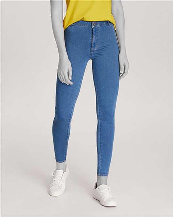 شلوار زنانه جین چسبان آبی دایورس