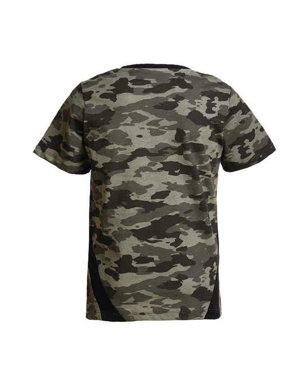 تی شرت پسرانه يقه گرد نخی سبز مشکی ارتشی