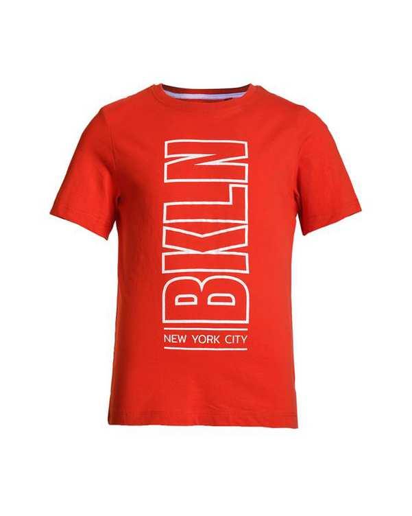 تی شرت پسرانه يقه گرد نخی قرمز