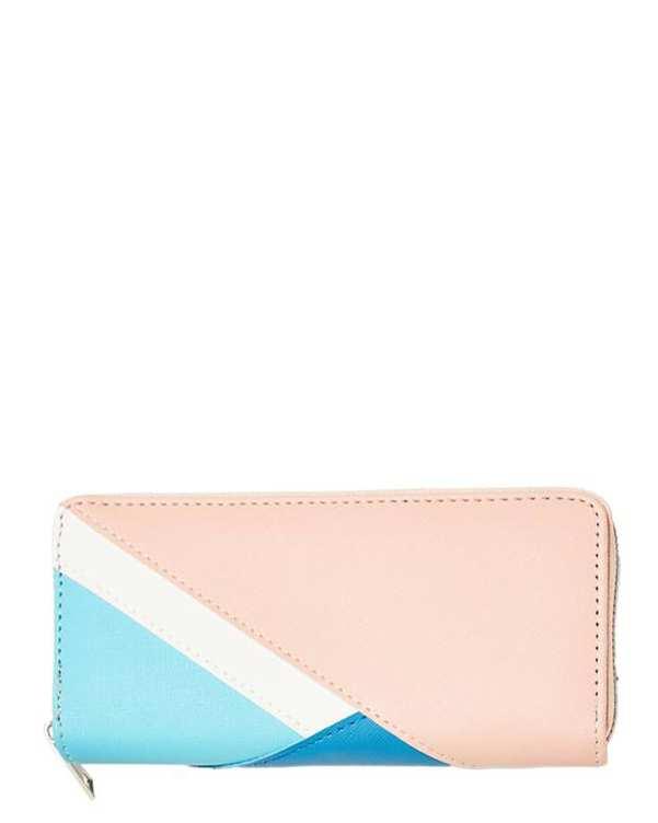 کیف پول زنانه آبی صورتی مودو