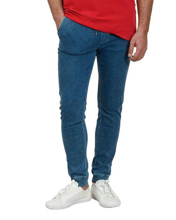 شلوار مردانه اسلش جین آبی اچ پلاس