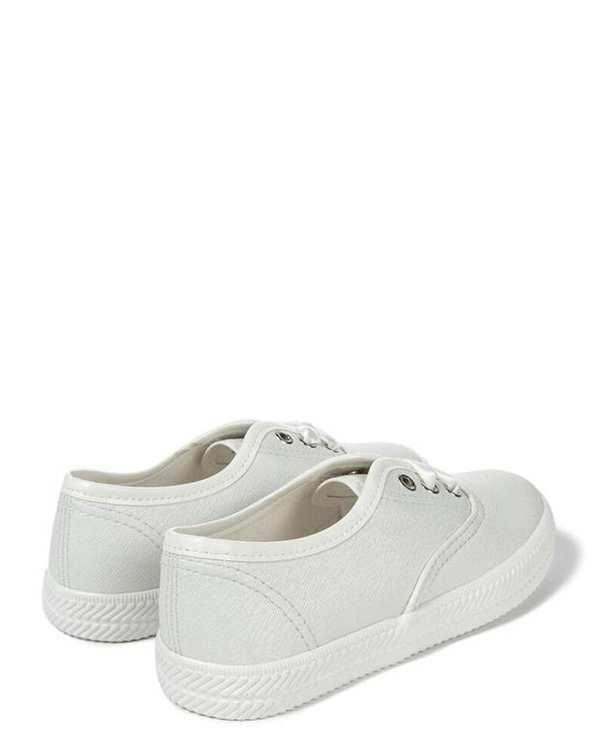 کفش دخترانه کژوال سفید زیپی