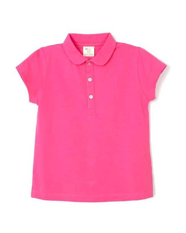 تی شرت دخترانه نخی سرخابی زیپی