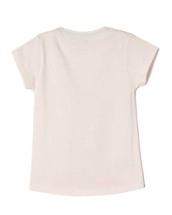 تی شرت دخترانه نخی یقه گرد صورتی روشن زیپی