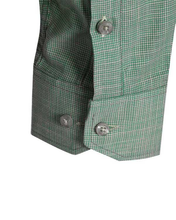پیراهن مردانه نخی سبز آبی ماسیمو دوتی