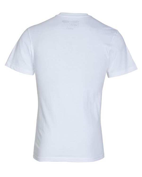 تی شرت زنانه نخی یقه گرد سفید ونس