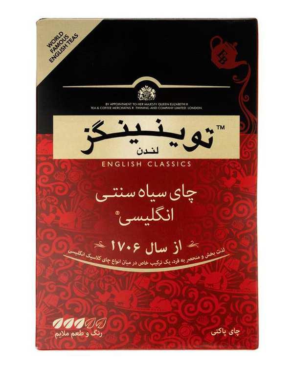 چای سیاه سنتی انگلیسی 450 گرمی همراه هدیه توینینگز