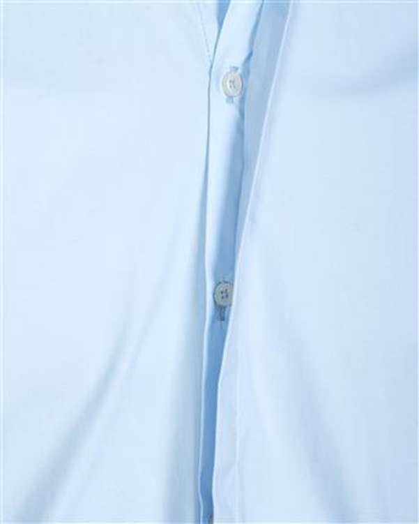 پیراهن مردانه کتان آستین کوتاه آبی روشن ابرا