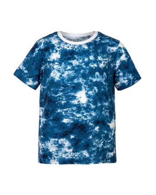تی شرت پسرانه نخی یقه گرد آبی ترانوا