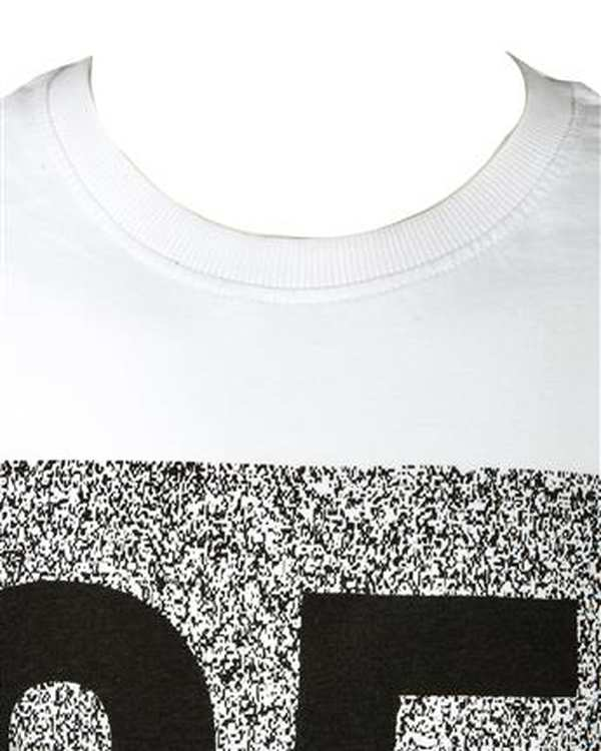 تی شرت پسرانه نخی یقه گرد سفید