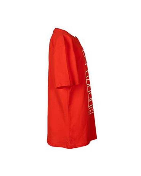 تی شرت پسرانه نخی یقه گرد قرمز