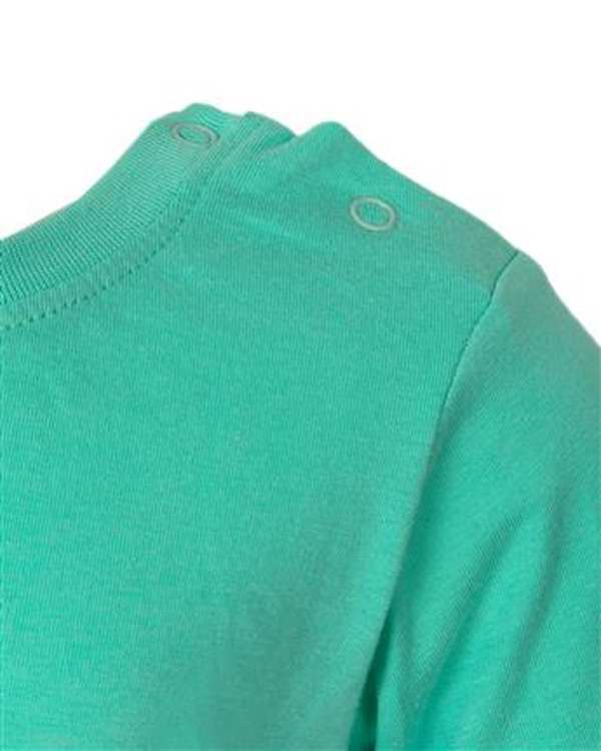 ست تی شرت و شلوارک پسرانه نخی سبز طوسی کول کلاب