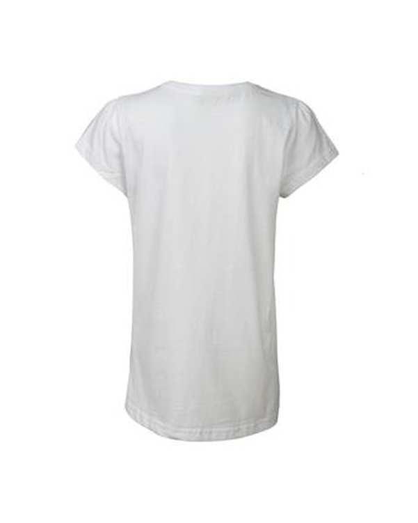 تی شرت دخترانه يقه گرد نخی سفید وای اف کی