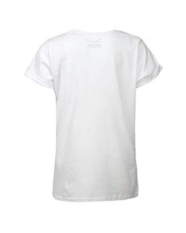 تی شرت دخترانه يقه گرد نخی سفید پریمارک