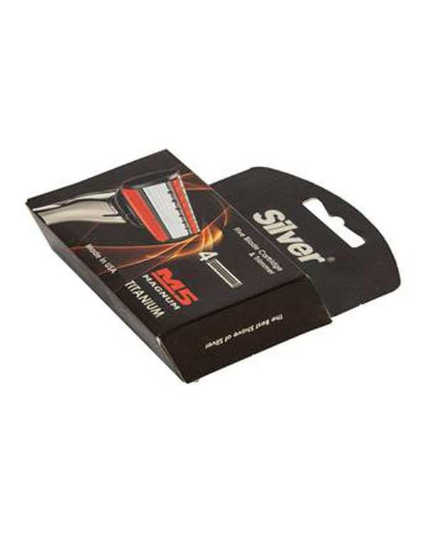 بسته 4 عددی تیغ یدک 5 لبه مدل M5 Magnum سیلور