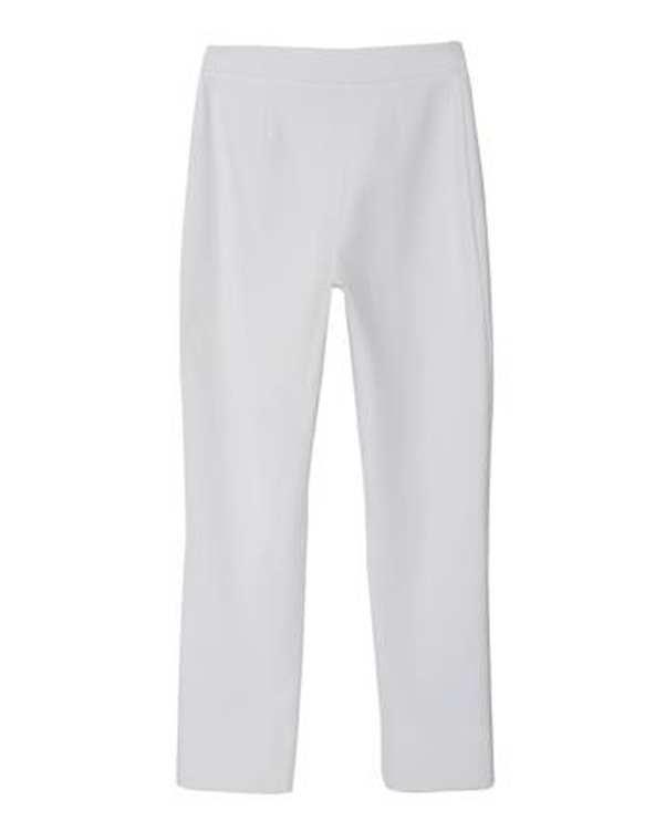 شلوار زنانه پارچه ای راسته سفید برنس