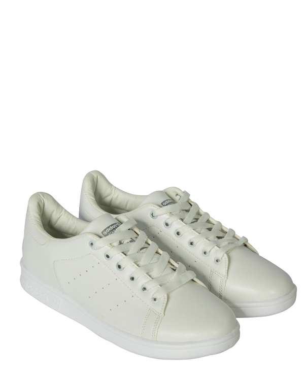 کفش زنانه کژوال سفید طوسی طرح آدیداس