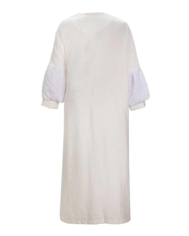 مانتو زنانه بلند سفید میس سان