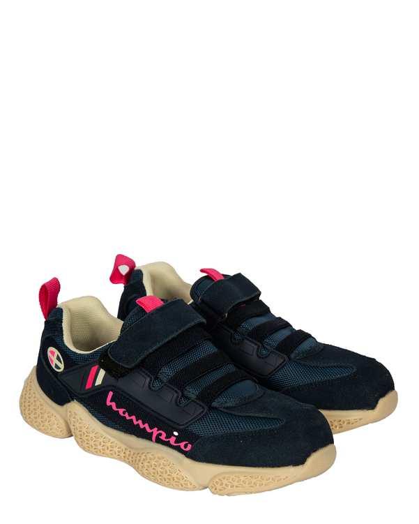 کفش بچگانه کژوال چسبی سرمه ای تاتی کیدز