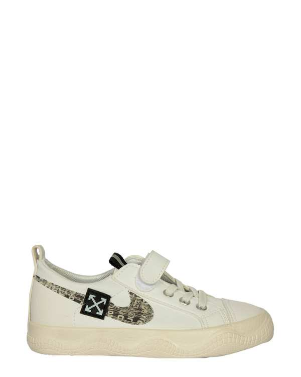 کفش پسرانه کژوال چسبی سفید تاتی کیدز
