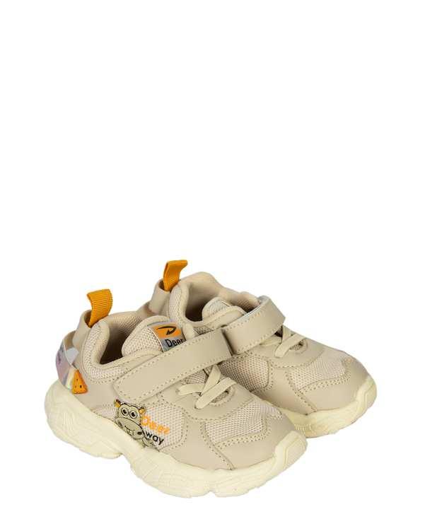 کفش بچگانه کژوال چسبی طوسی روشن تاتی کیدز