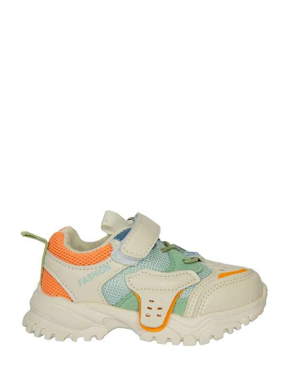کفش بچگانه کژوال چسبی سفید تاتی کیدز