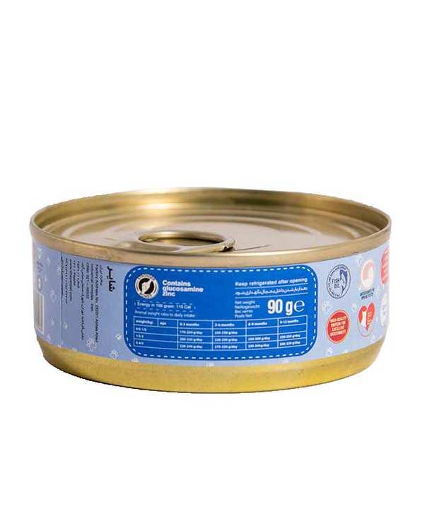 کنسرو غذای بچه گربه 90gr Fish شایر