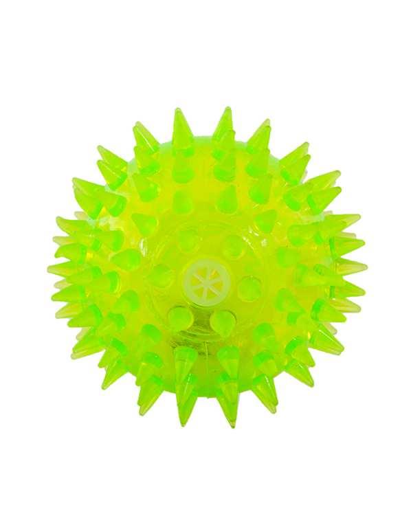 اسباب بازی سگ و گر به چراغ دار زرد Latex Dog Ball