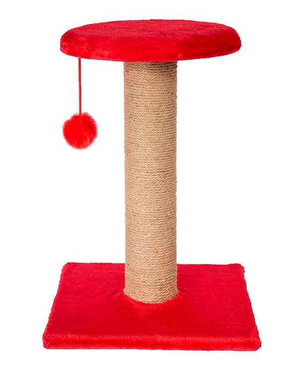 اسکرچر گربه درختی دو طبقه آویز دار قرمز پی اس