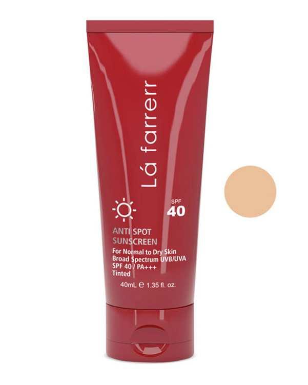 کرم ضد آفتاب و ضد لک رنگی پوست خشک Normal To Dry LightSPF40 روشن لافارر
