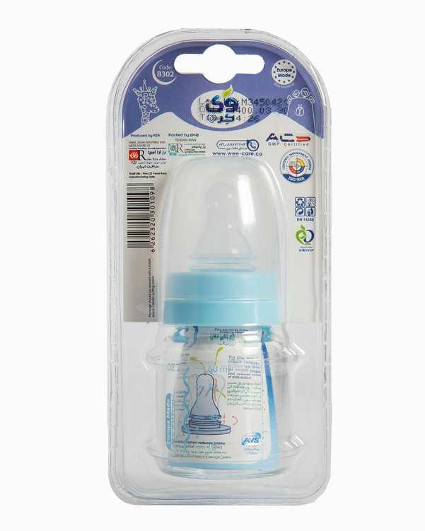 شیشه شیر کودک پیرکسکد B302 آبی 60ml وی کر