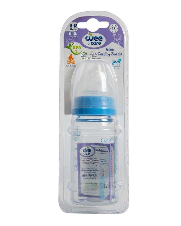 شیشه شیر کودک پیرکس کد B303 آبی 120ml وی کر