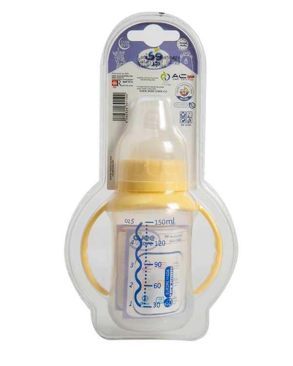 شیشه شیر کودک دسته دار کد B315 کرم 150ml وی کر