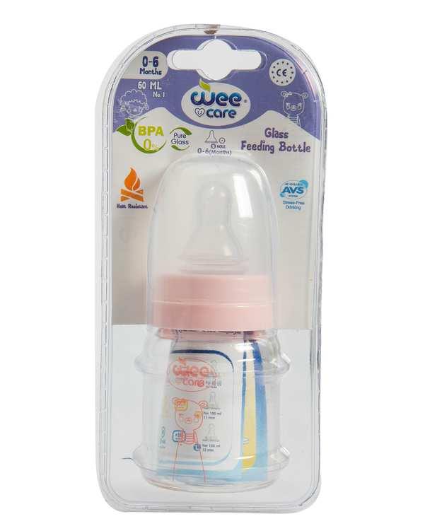 شیشه شیر کودک پیرکس کد B302 صورتی 60ml وی کر