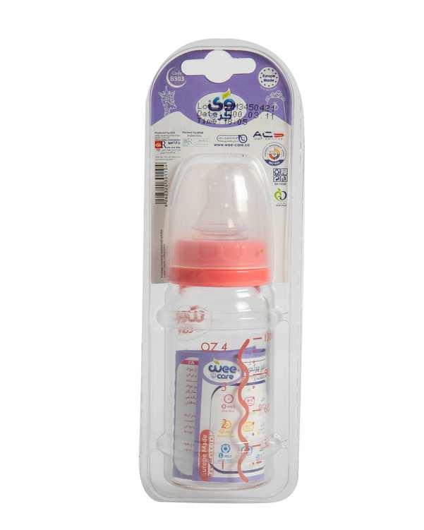 شیشه شیر کودک پیرکس کد B303 صورتی 120ml وی کر