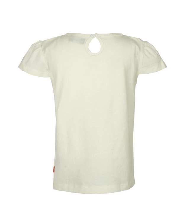 تی شرت دخترانه نخی یقه گرد سفید سیزنس