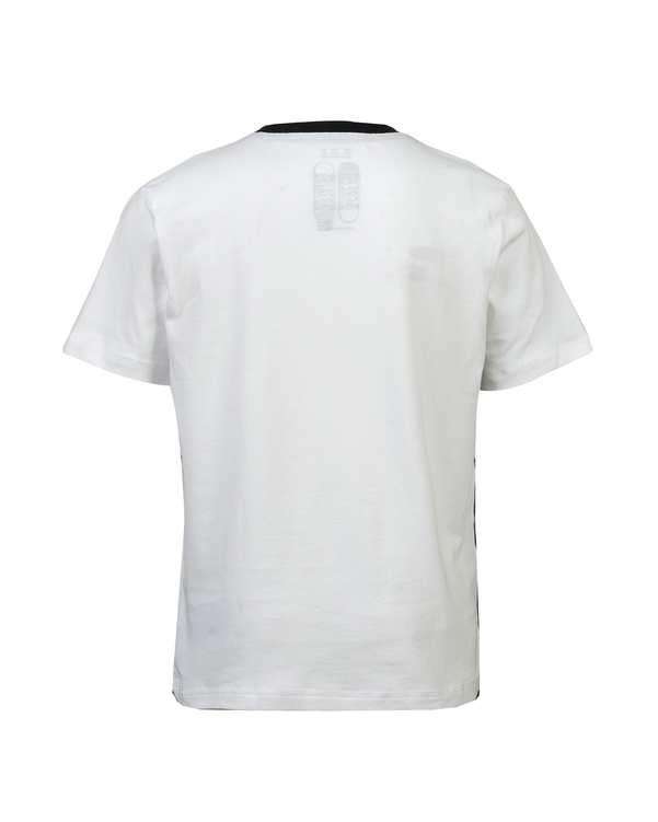تی شرت پسرانه نخی یقه گرد سفید فری استایل