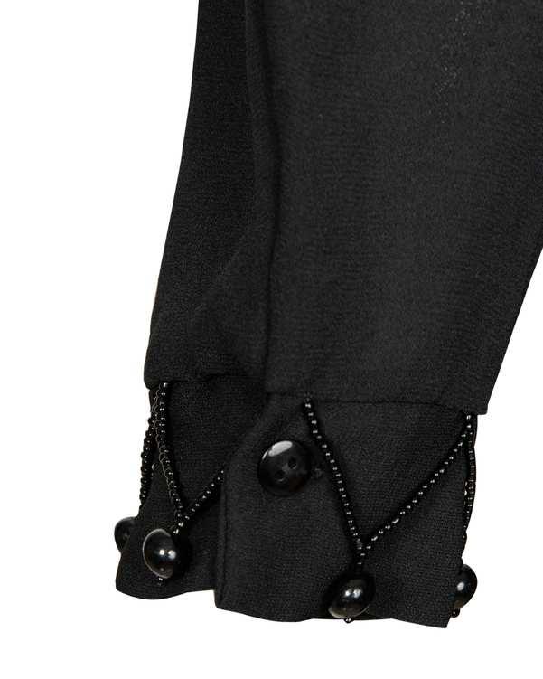 ساق دست زنانه کرپ مشکی مروارید دوزی سورا