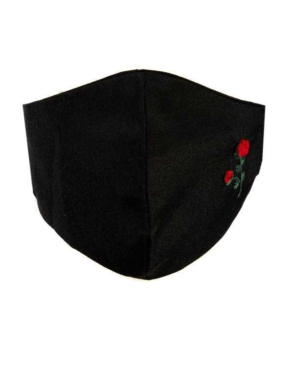 ماسک تنفسی زنانه پارچه ای مشکی گلدار سورا