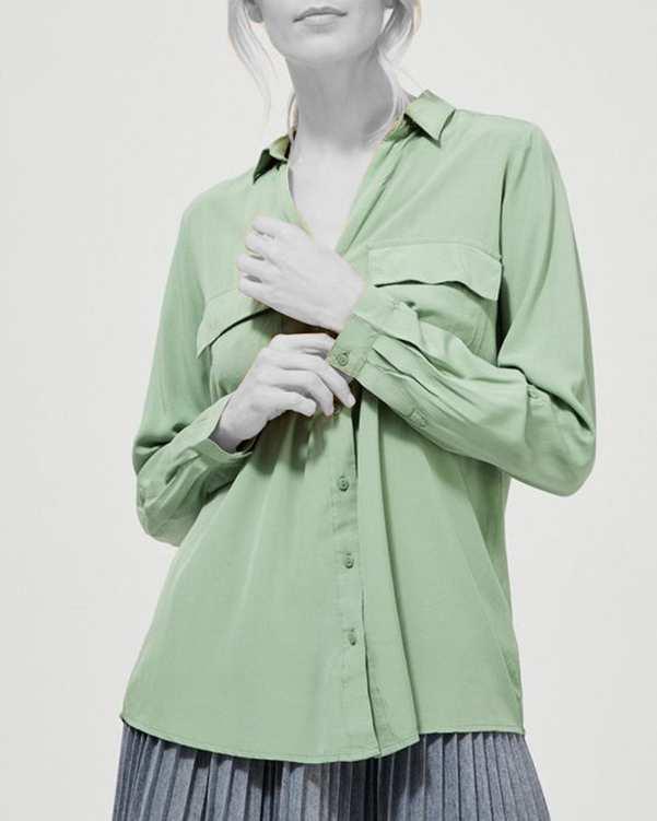 شومیز زنانه سبز مودو