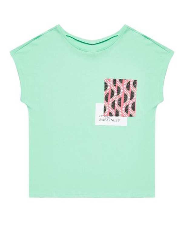 تی شرت زنانه نخی یقه گرد سبزمودو