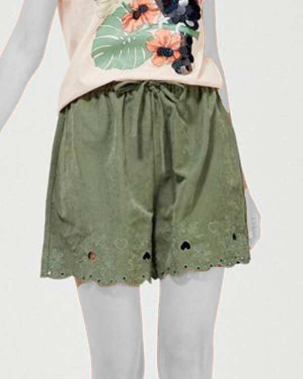 شلوارک زنانه سبز مودو