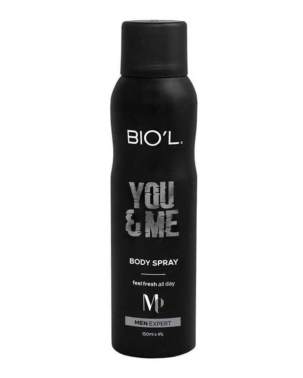 اسپری بدن مردانه مدل 150ml You & Me بیول