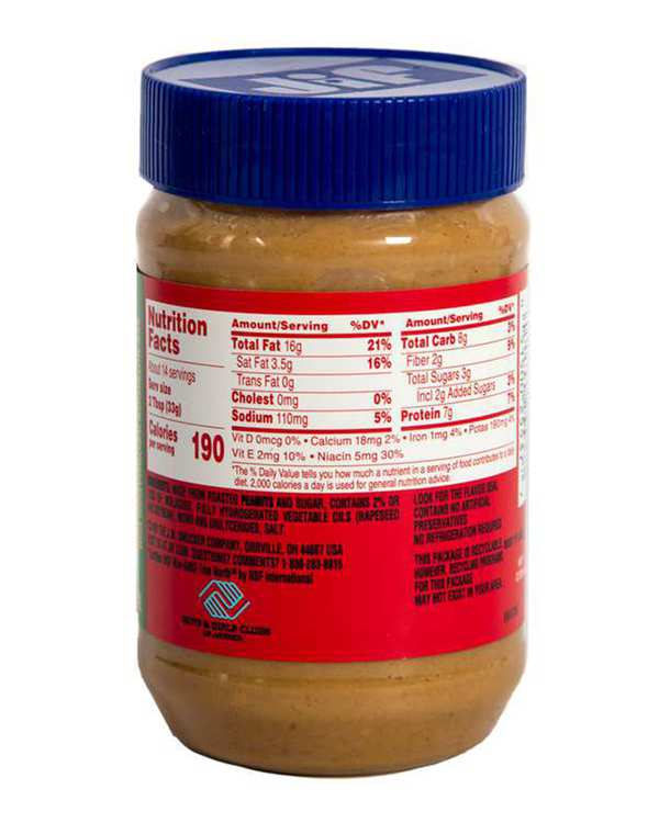 کره بادام زمینی کرانچی 454 گرمی جیف
