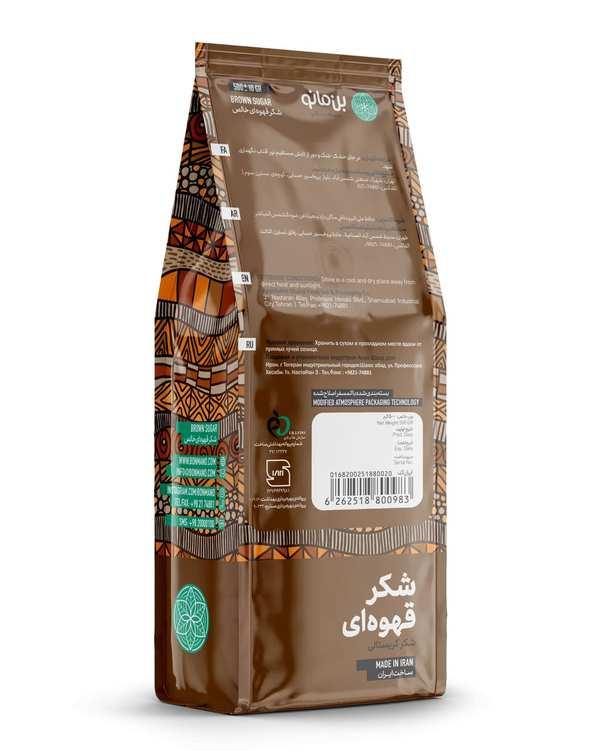 شکر قهوه ای خالص 500 گرمی بن مانو
